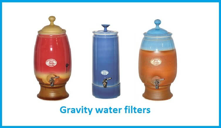 Gravity water filters